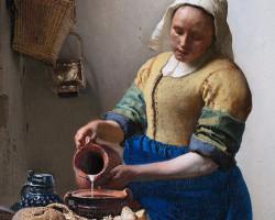 Johannes Vermeer, Mleczarka, Rijksmuseum, Amsterdam, Niezła sztuka