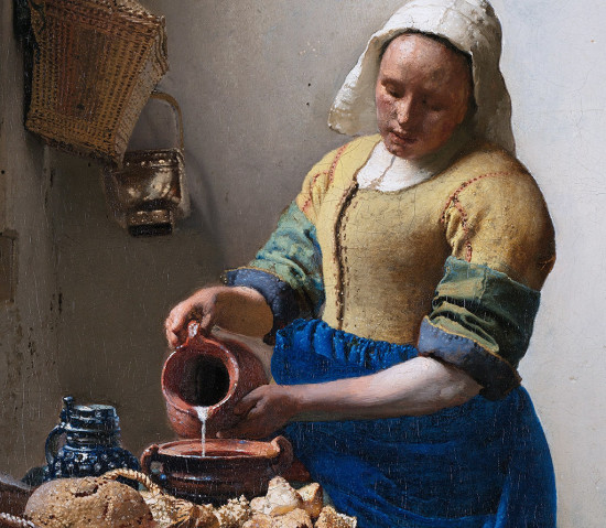 Vermeer Mleczarka,1658-1661, detal