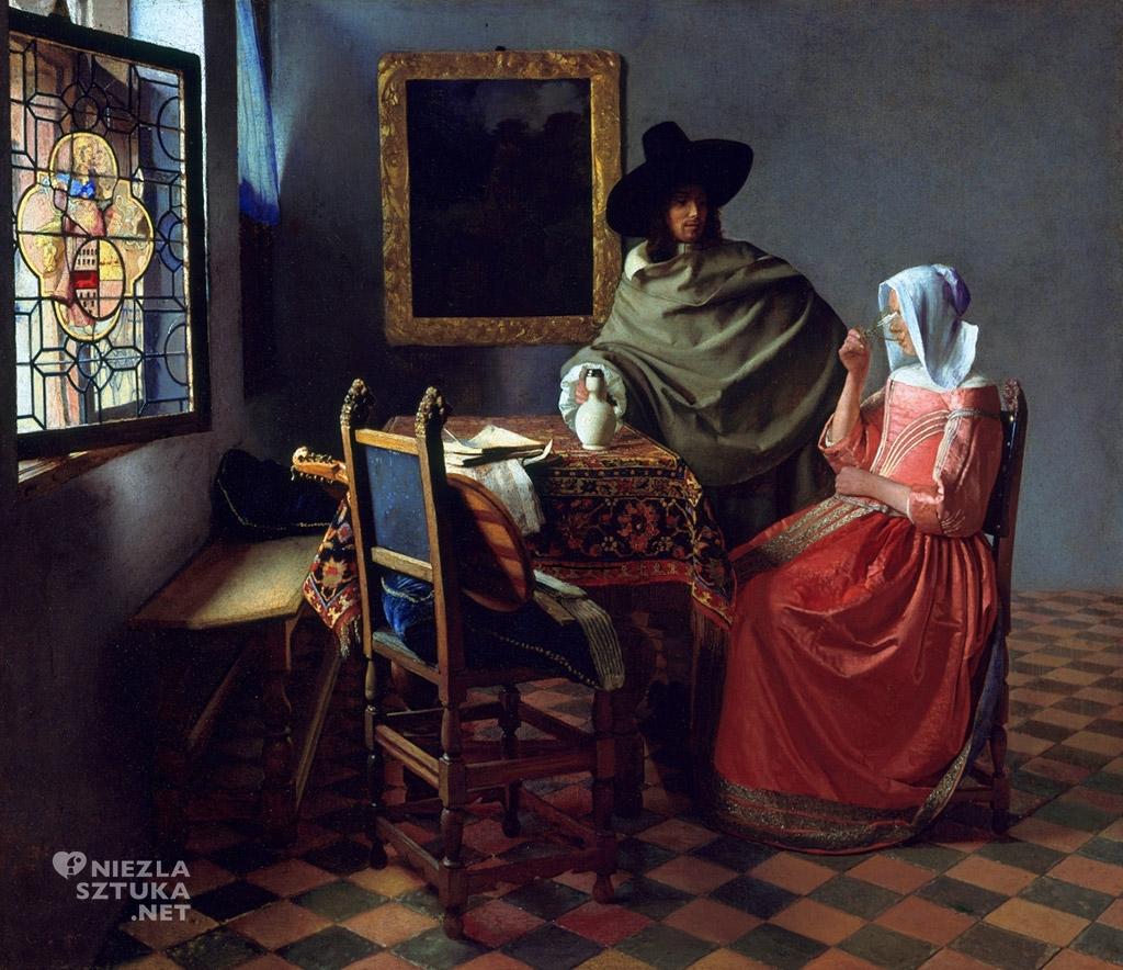 Johannes Vermeer Kielich wina , ok. 1658 - 60, Gemadegalerie, Berlin