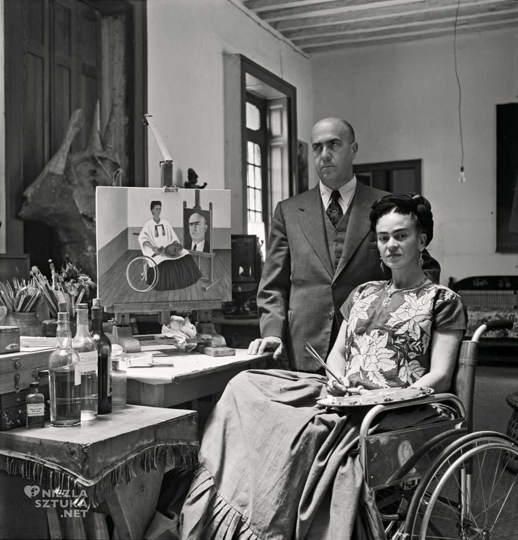 Kahlo At Home With Dr. Juan Farill, 1951. Gisèle Freund:IMEC:Fonds MCC