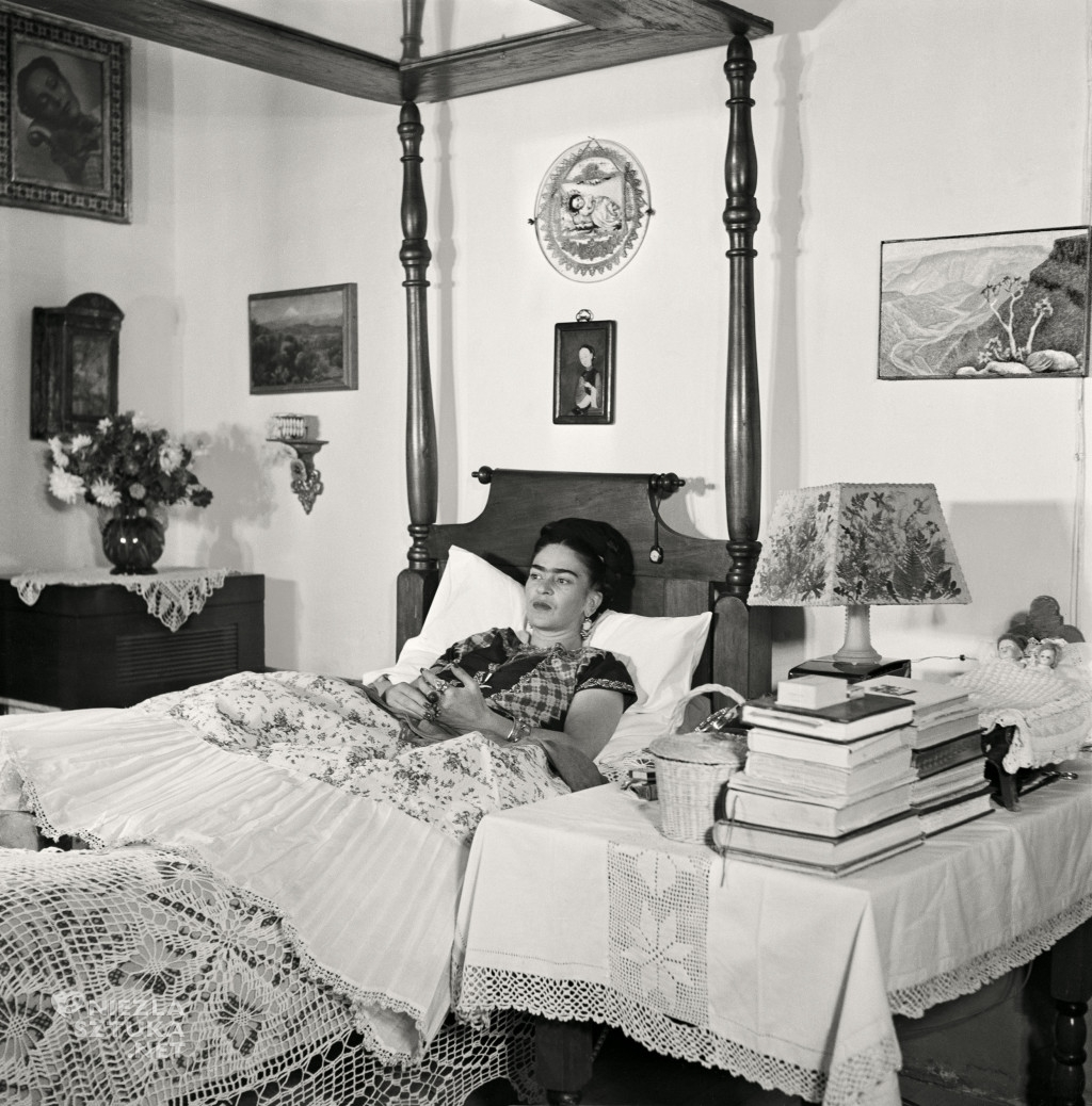 Kahlo In Bed, 1951.The Gisèle Freund Photographs