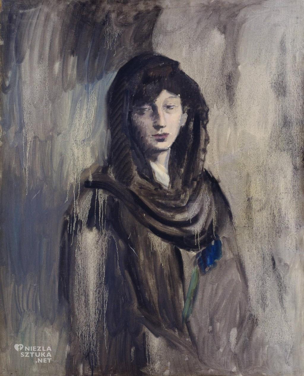 Pablo Picasso Fendandez z czarną mantylą