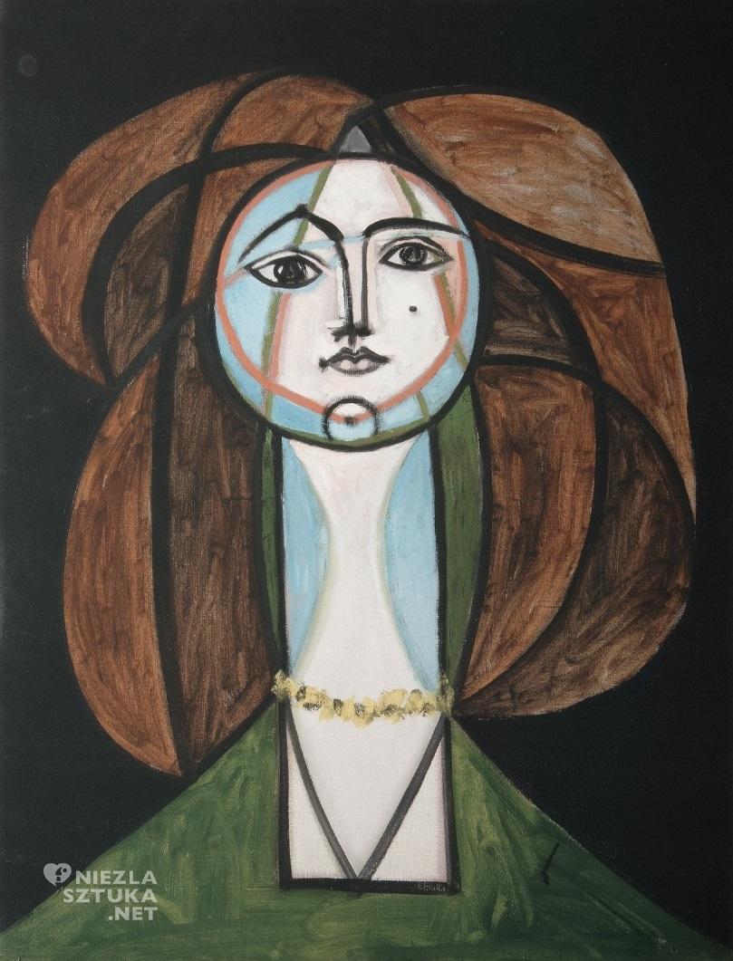 Pablo Picasso, Françoise Gilot, Kobieta z żółtym naszyjnikiem, kobiety Picassa, Niezła Sztuka