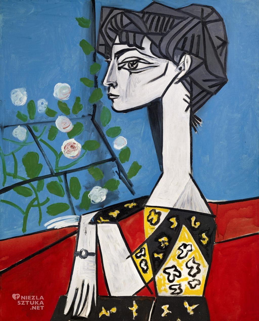 Pablo Picasso, Jacqueline z kwiatami, kobiety Picassa, kubizm, Niezła Sztuka