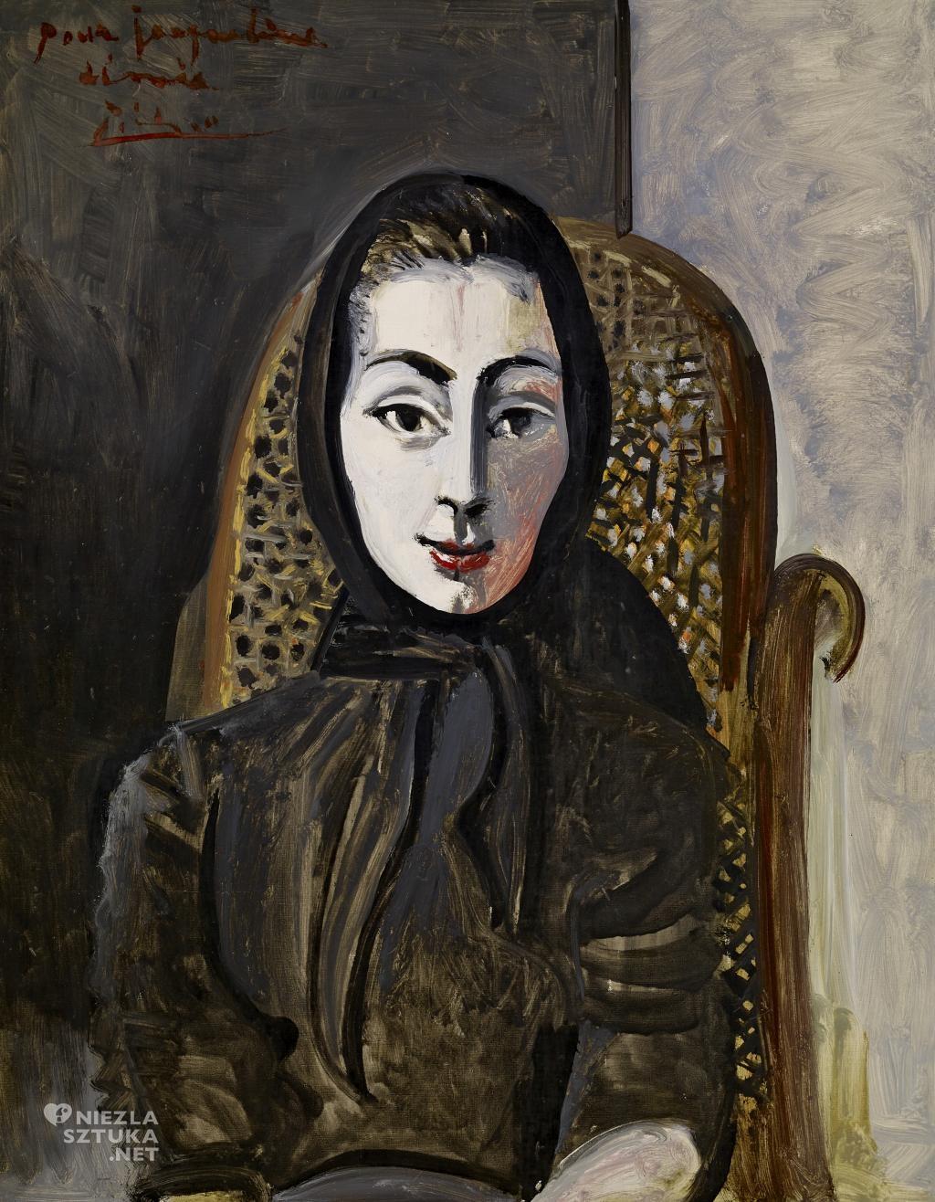 Pablo Picasso Portret Jacqueline Roque