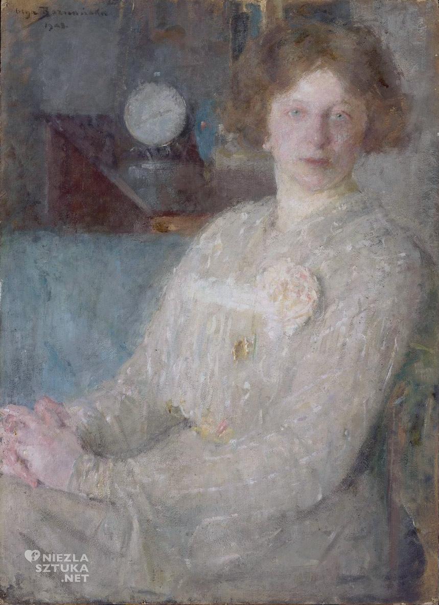 Olga Boznańska, Portret panny Dygat, Musee d'Orsay, sztuka polska, malarstwo polskie, Niezła sztuka