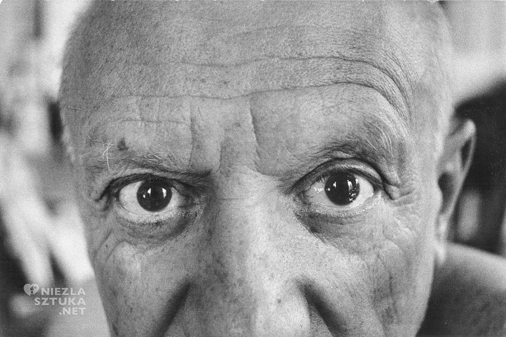 Pablo Picasso, oczy, fotografia, Niezła Sztuka