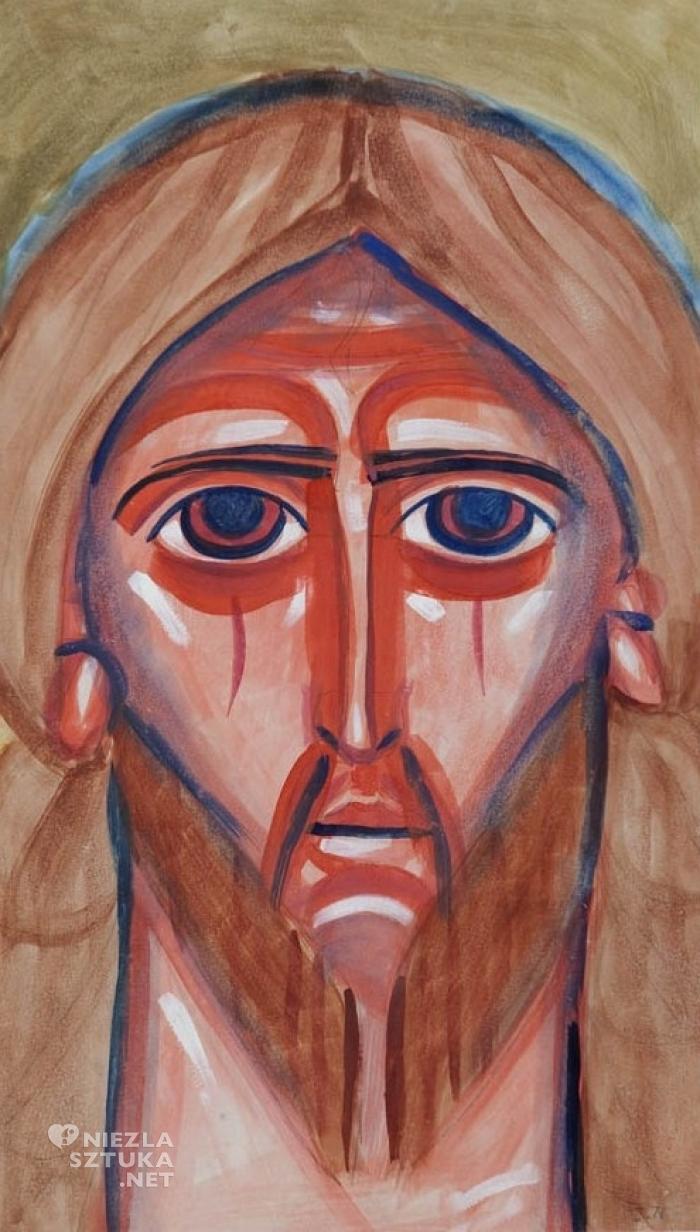 Jerzy Nowosielski, Pantokrator, tempera na kartonie, 60,2 × 34,6 cm, fot. desa.pl