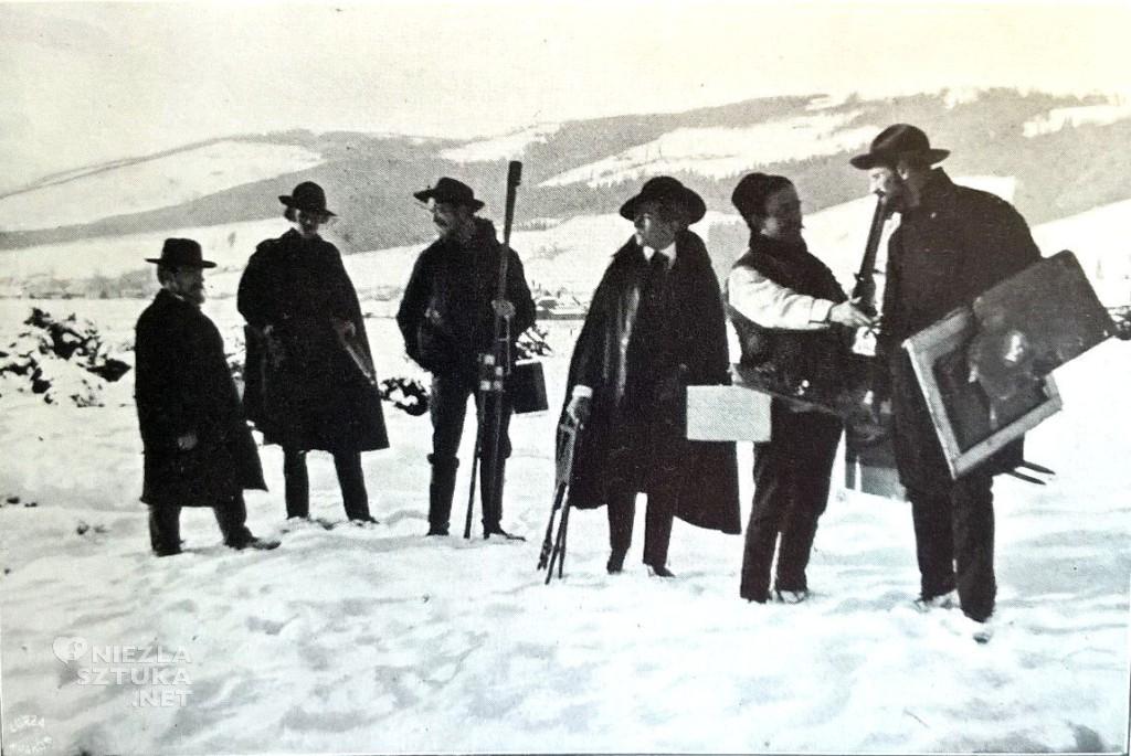 Jan Stanisławski z uczniami podczas pleneru w Zakopanym, ok. 1906, Muzeum Narodowe w Krakowie