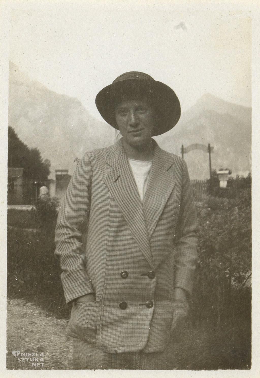 Wally Neuzil in Gmunden am Traunsee | Juli 1913 © Wien Museum