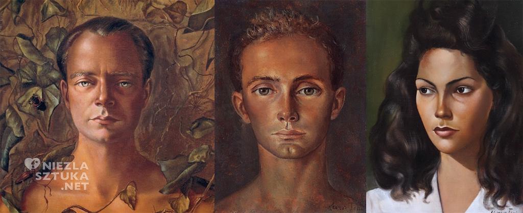Leonor Fini: Portret Stanislao Lepri, fragment, Portret Kota Jeleńskiego, Autoportret