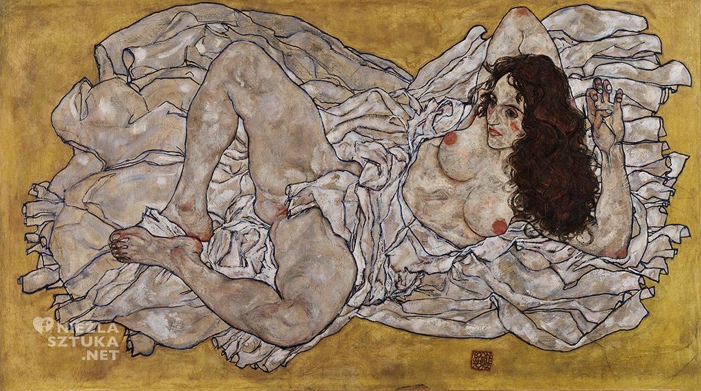 Egon Schiele, Leżąca kobieta, Leopold Museum, Wiedeń, Niezła sztuka
