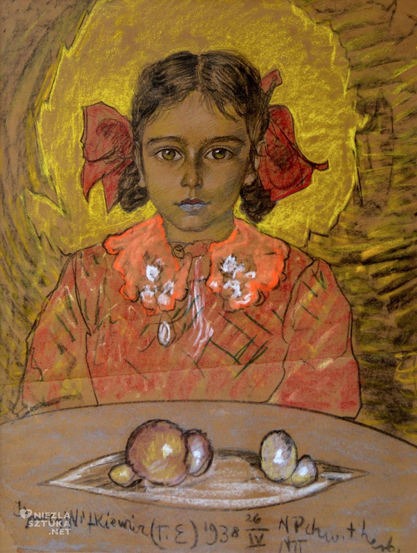 Witkacy <em>Portret dziewczynki</em>, 26 IV 1938, pastel, papier, 60 × 45,5 cm<br />Muzeum Pomorza Środkowego w Słupsku