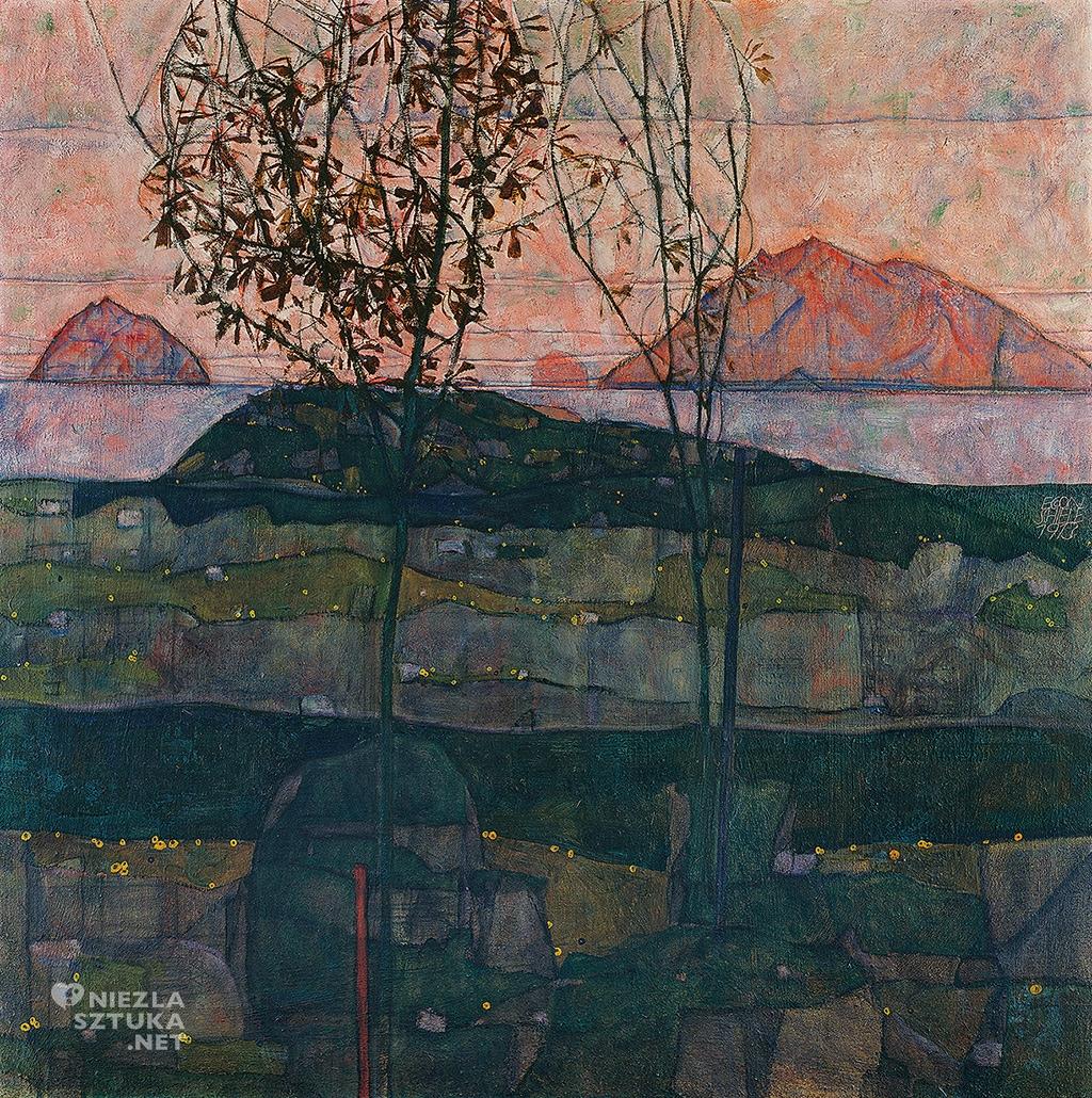 Egon Schiele, Zachodzące słońce, Niezła sztuka