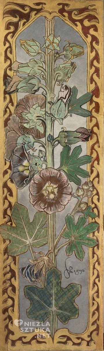 Stanisław Wyspiański, Malwy, projekt polichromii dla kościoła w Bieczu | 1896, MNW