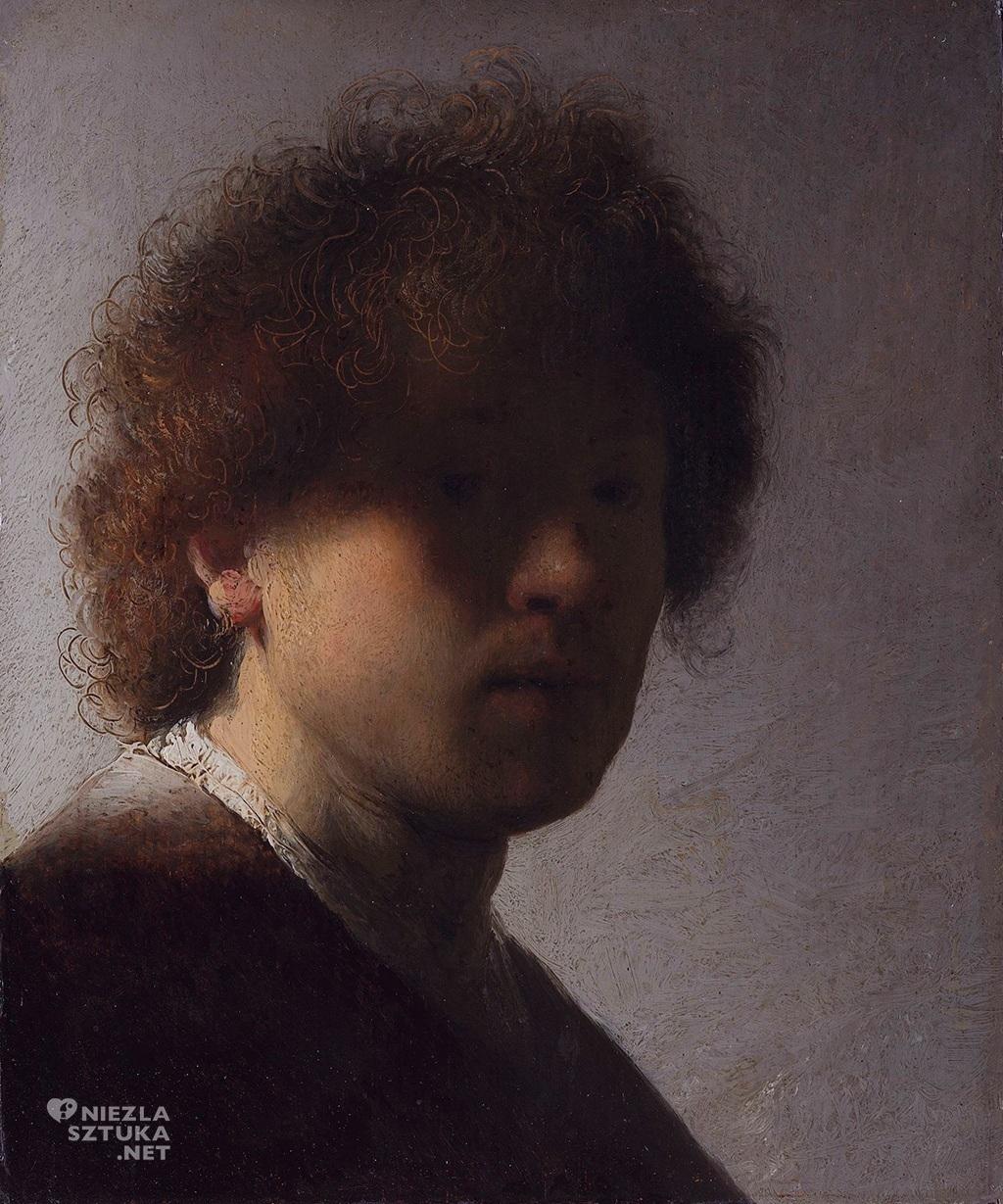 Autoportret (w wieku 22 lat) | 1628, Rijksmuseum, Amsterdam, fot.: rembrandtfecit2.blogspot.com