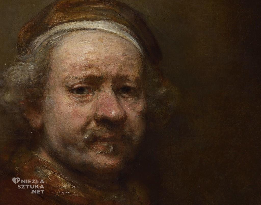 Rembrandt, Autoportret w wieku 63 lat, autoportret, National Gallery, Londyn, Niezła sztuka