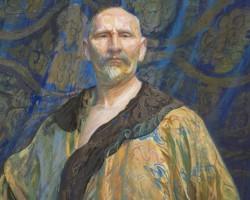 Leon Wyczółkowski Autoportret w chińskiej szacie męskiej półoficjalnej longpao. Autoportret w chińskim kaftanie