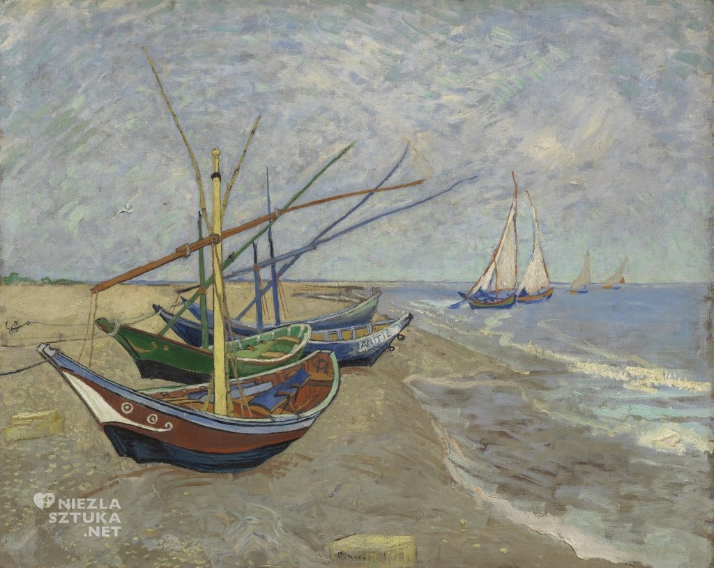 Vincent van Gogh Łodzie rybackie na plaży w Saintes-Maries-de-la-Mer, 1888