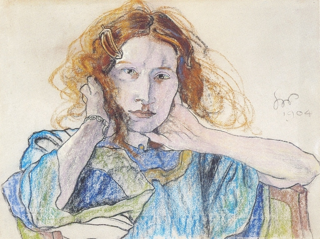 Stanisław Wyspiański, Portret Pani Solskiej, 1904