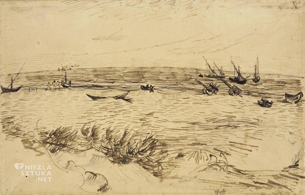 Vincent van Gogh Plaża w Saintes-Maries-de-la-Mer, 1888