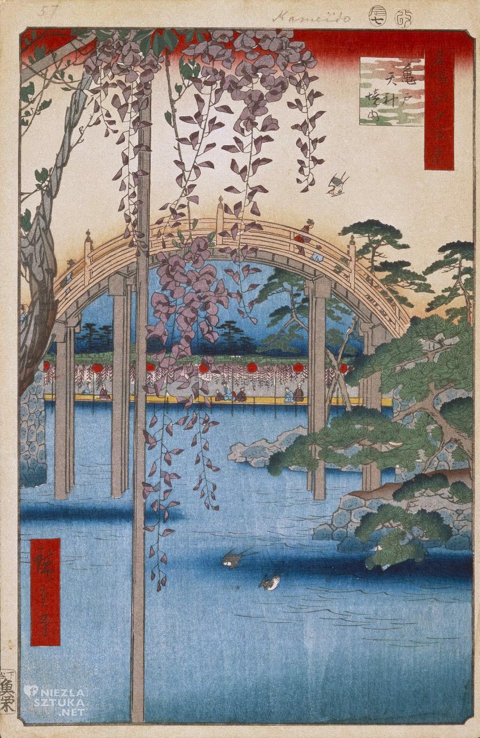 Utagawa Hiroshige <em>Inside Kameido Tenjin Shrine</em>, 1856, Brooklyn Museum