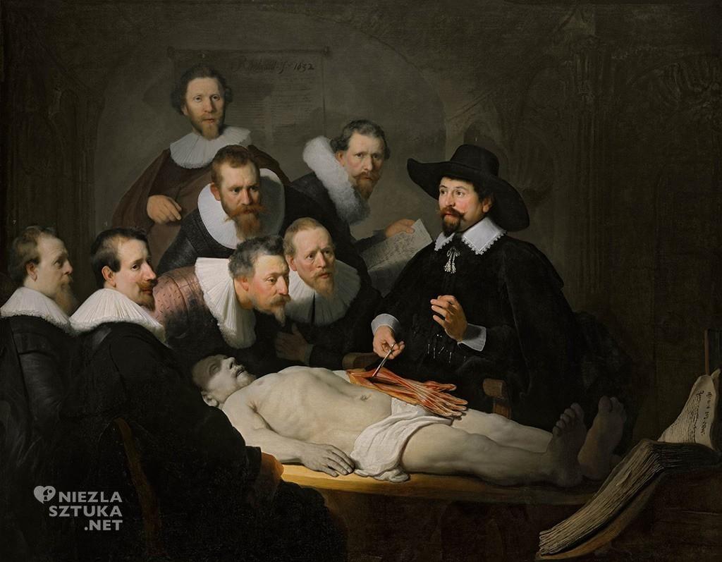 Rembrandt, Lekcja anatomii doktora Tulpa, Mauritshuis, Haga, Niezła sztuka