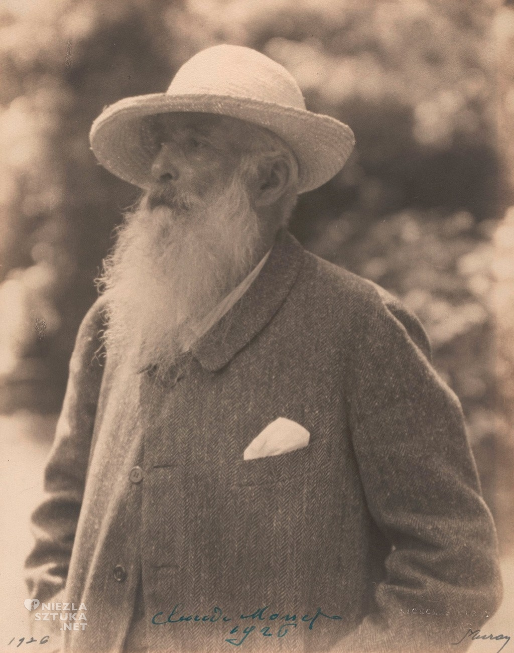 Claude Monet | 1926, fot. Nickolas Muray, moma.org
