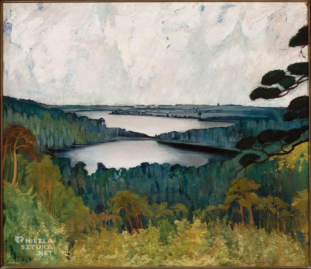 Michalina Krzyżanowska, Dwa jeziora, pejzaż, Muzeum Narodowe w Warszawie, Niezła sztuka