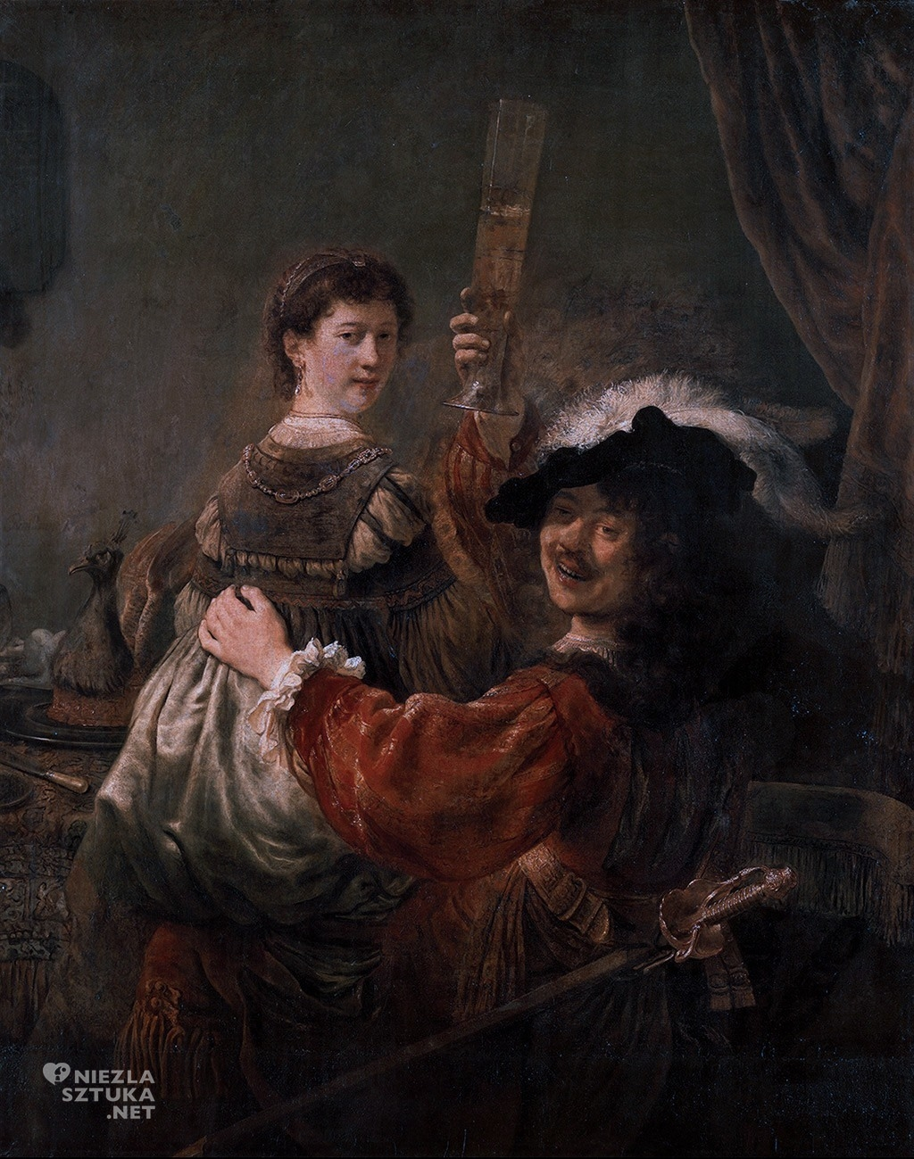 Autoportret z Saskią   ok. 1635, Galeria Obrazów Starych Mistrzów, Drezno, fot.: rembrandtfecit2.blogspot.com