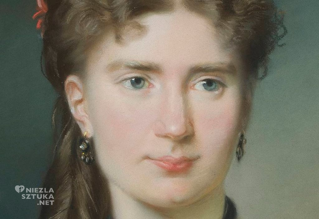 Emilia Dukszyńska-Dukszta Portret Julii z Bergsonów Lesser- Blatteisowej | 1869, detal, MNW