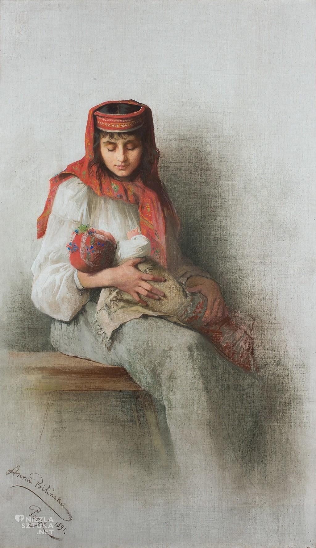 Anna Bilińska Wieśniaczka z dzieckiem