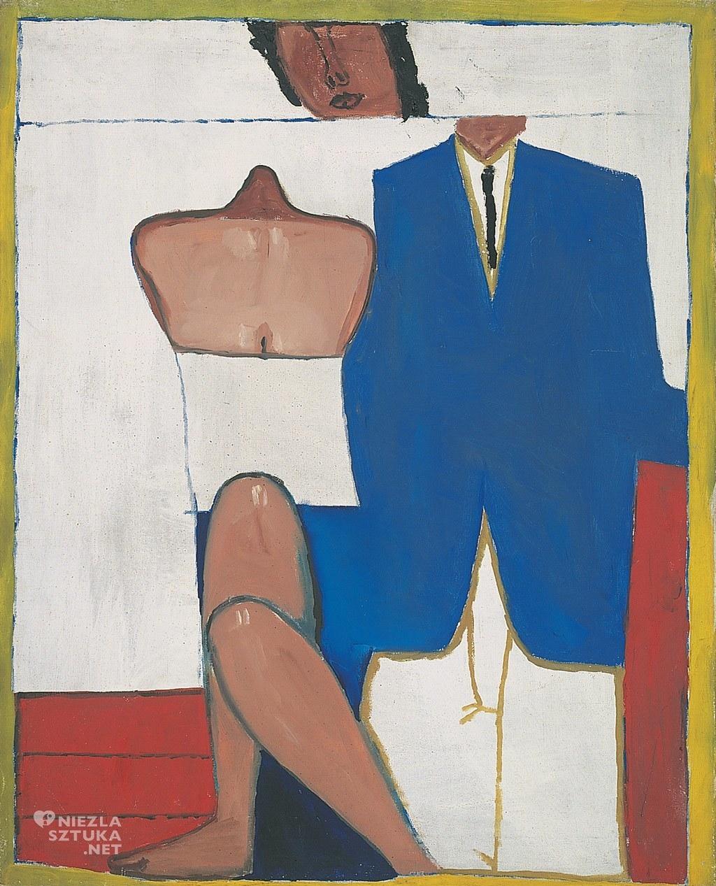 Jerzy Nowosielski, Portret ślubny | 1958, 79 x 64,5 cm, olej/płótno, Fundacja Nowosielskich
