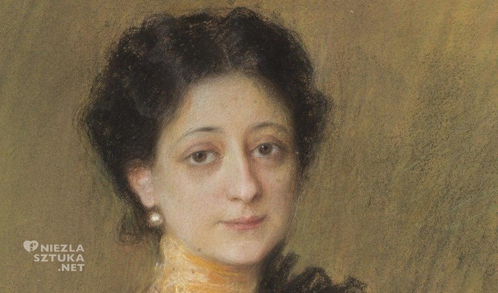 Teodor Axentowicz Portret pani P. | ok. 1905, detal, MNW