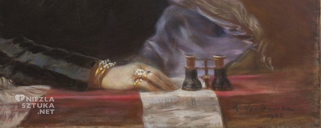 Maria Nostitz-Wasilkowska Portret Julii Wiemanowej | 1902, detal, MNW