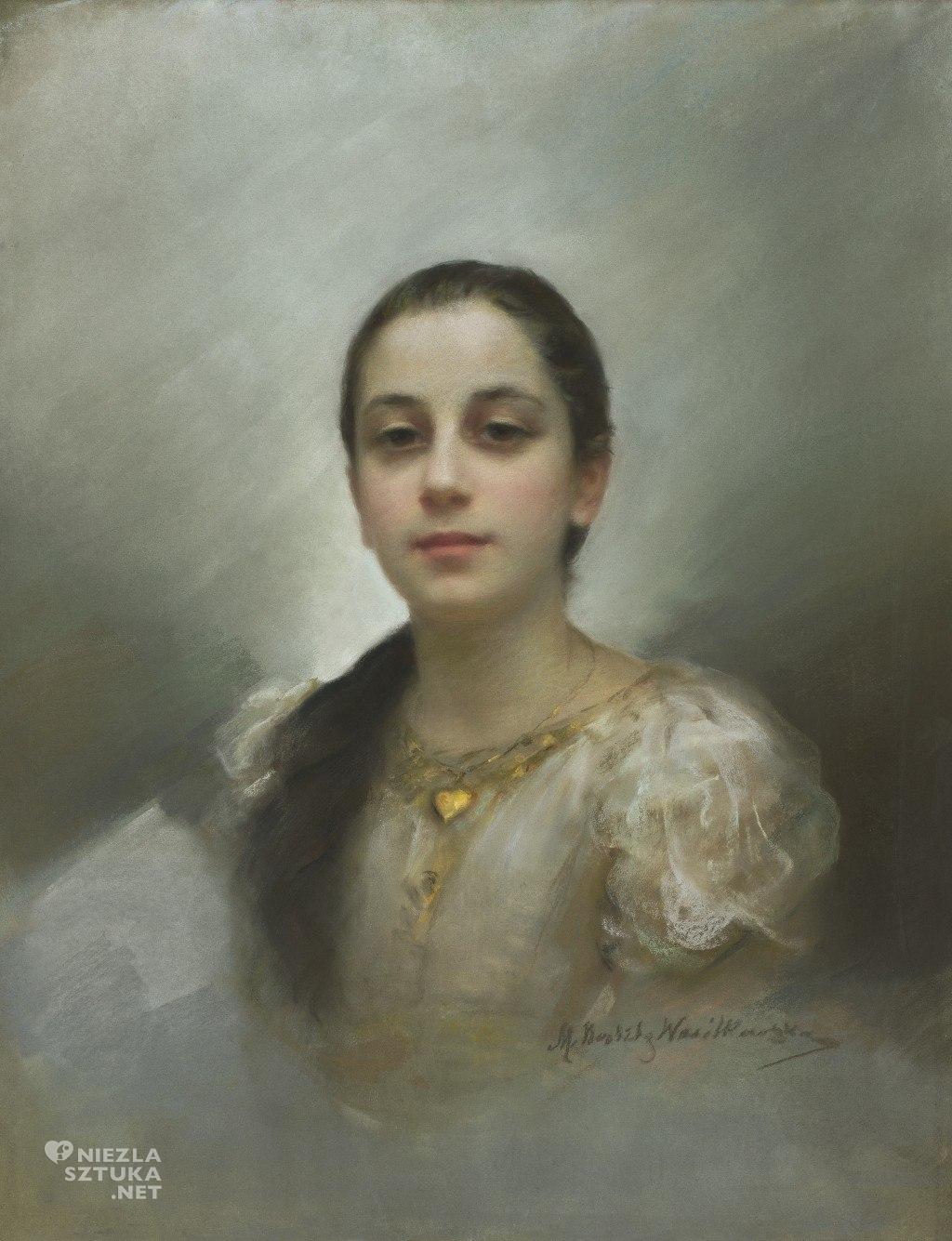 Maria Nostitz-Wasilkowska Portret młodej kobiety z wisiorkiem ze złotym serduszkiem | po 1892, MNW