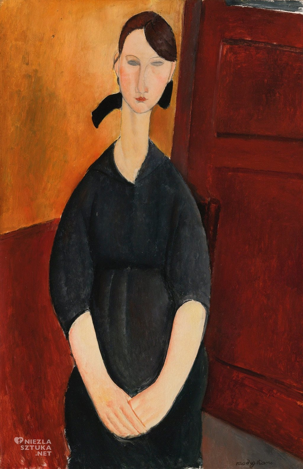 Amedeo Modigliani Portret Paulette Jourdain | 1919, sothebys.com