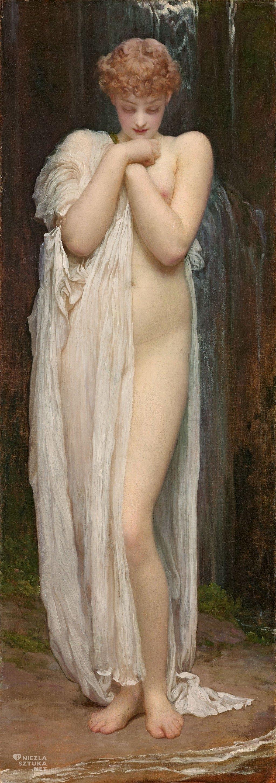 Frederick Leighton, Crenaia, nimfa rzeki Dargle, prefaraelici, kobieta, Niezła sztuka