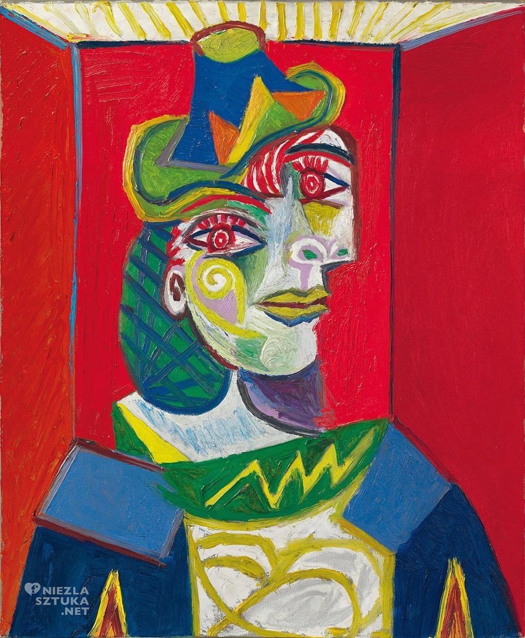 Pablo Picasso, Popiersie kobiety, Buste de femme, kubizm, kobiety Picassa, Dora Maar, Niezła Sztuka