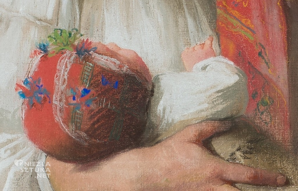 Anna Bilińska <em>Wieśniaczka z dzieckiem</em> | 1891, detal, MNW
