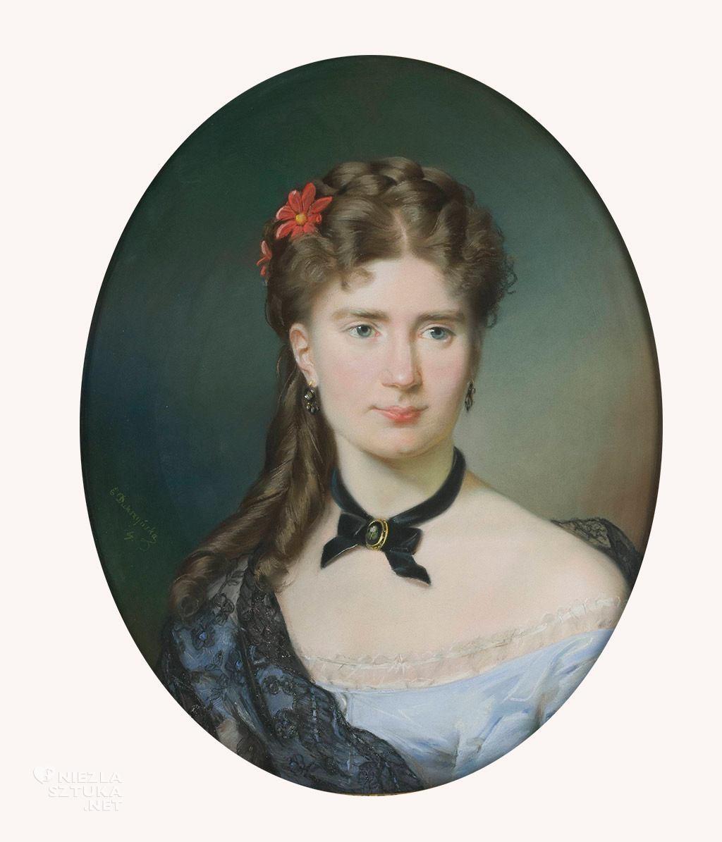 Emilia Dukszyńska-Dukszta Portret Julii z Bergsonów Lesser- Blatteisowej | 1869, pastel, MNW