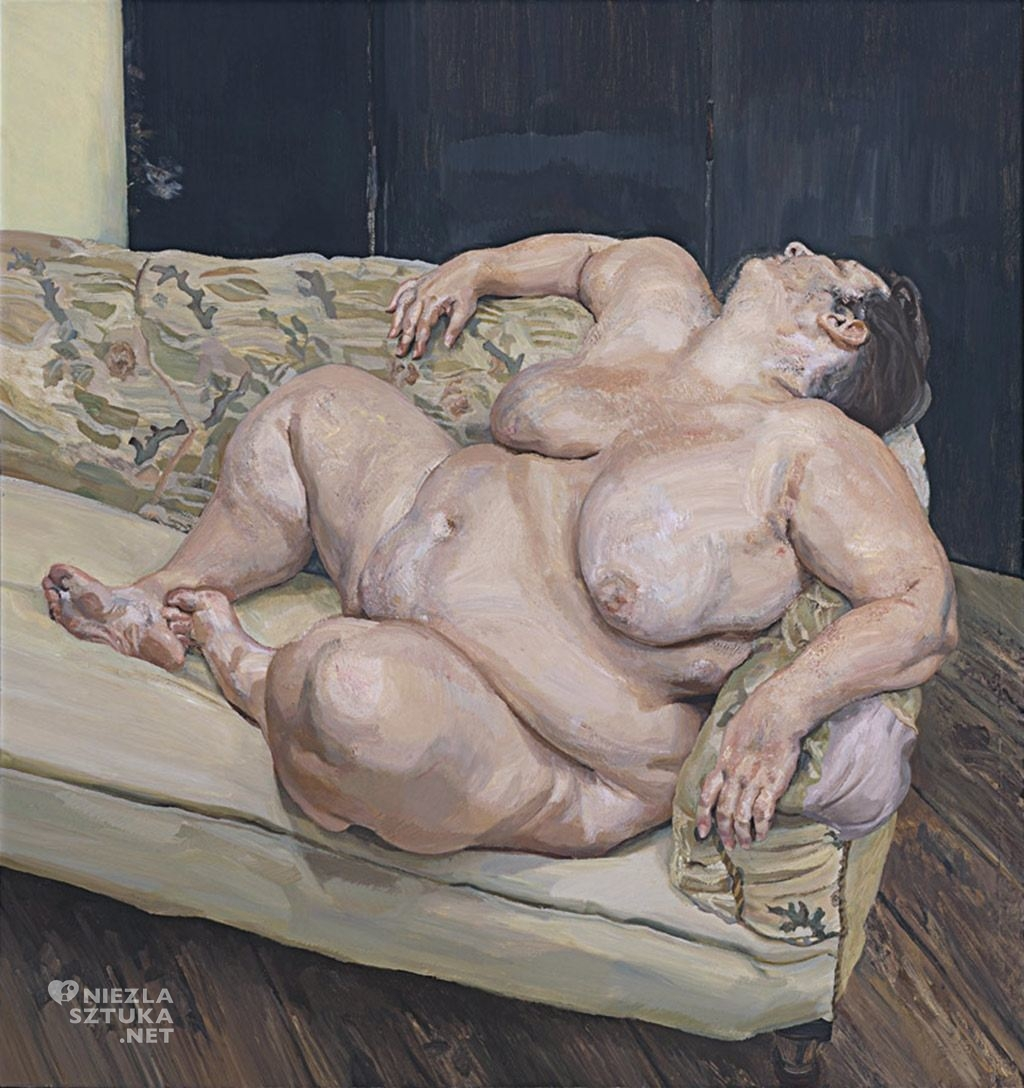 Lucian Freud Benefits Supervisor Resting | 1994, christies.com