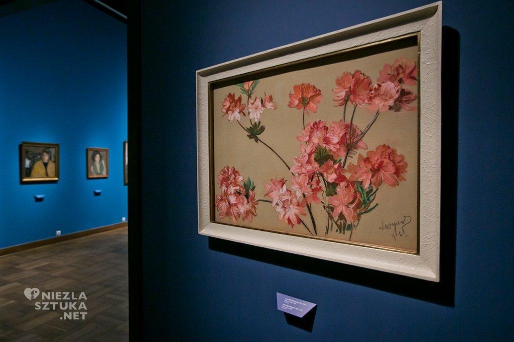 wystawa wyczółkowski kwiaty różowe azalie