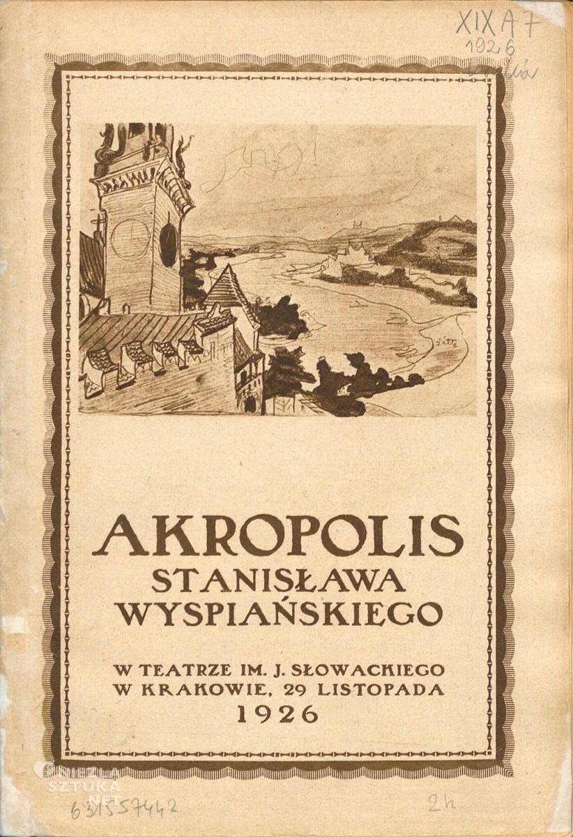 """""""Akropolis"""" Stanisława Wyspiańskiego w Teatrze im. J. Słowackiego w Krakowie, 29 listopada 1926, fot.: polona.pl"""