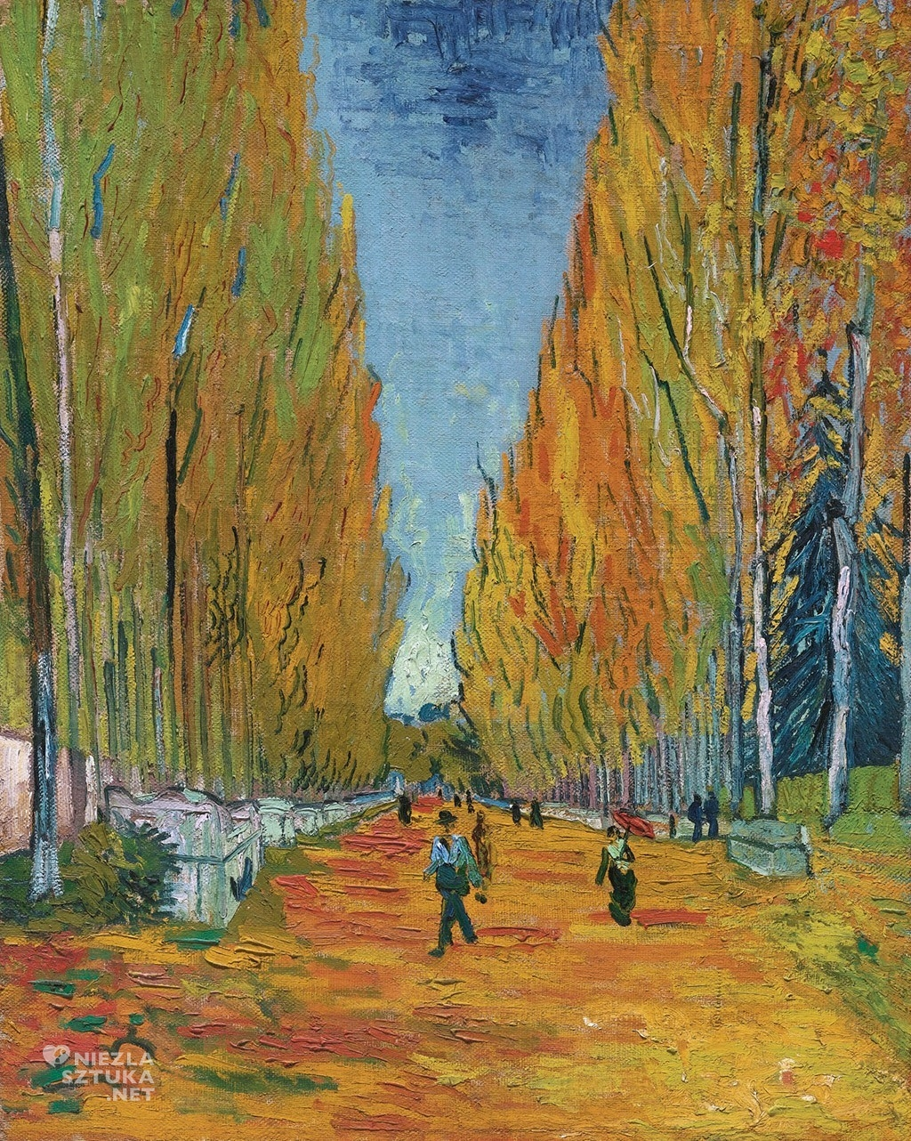 Vincent van Gogh, Les Alyscamps, malarstwo holenderskie, japonizm, Niezła Sztuka