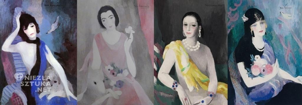 Marie Laurencin, Portrety: Coco Chanel, Mme Paul, Heleny Rubinstein i Evy Gebhard (baronowej Gourgaud)