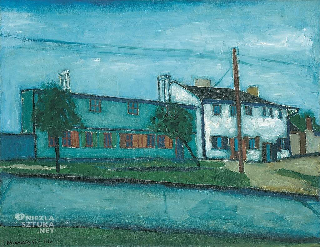 Jerzy Nowosielski Pejzaż łódzki | 1951, fot.: Galeria Starmach