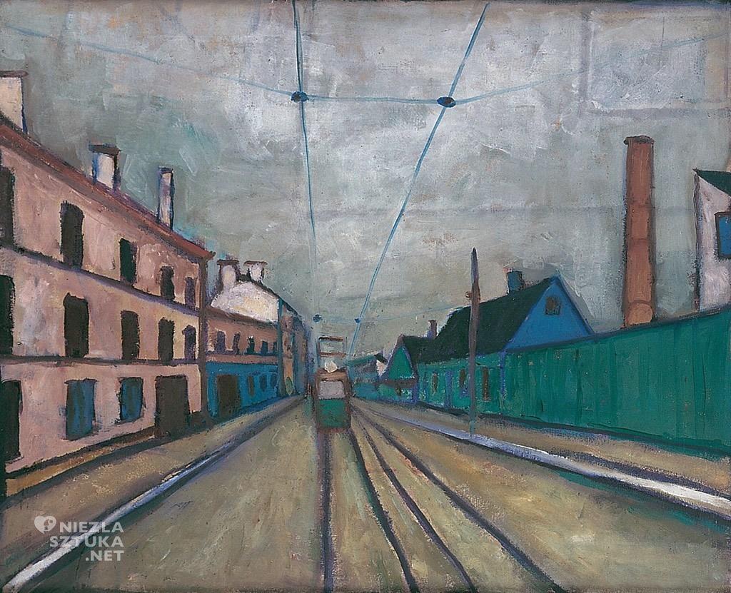 Jerzy Nowosielski Pejzaż łódzki | 1954, fot.: Galeria Starmach