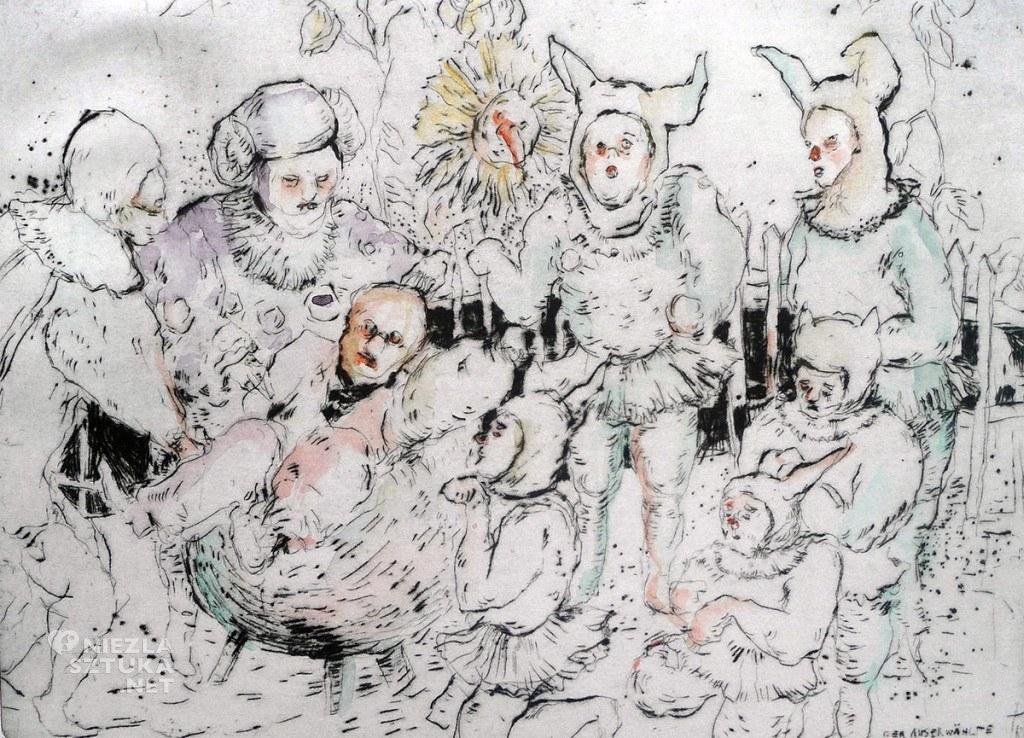 Der Auserwählte,Kaltnadelradierung und Auqarell auf buetten, 30x20cm,2013