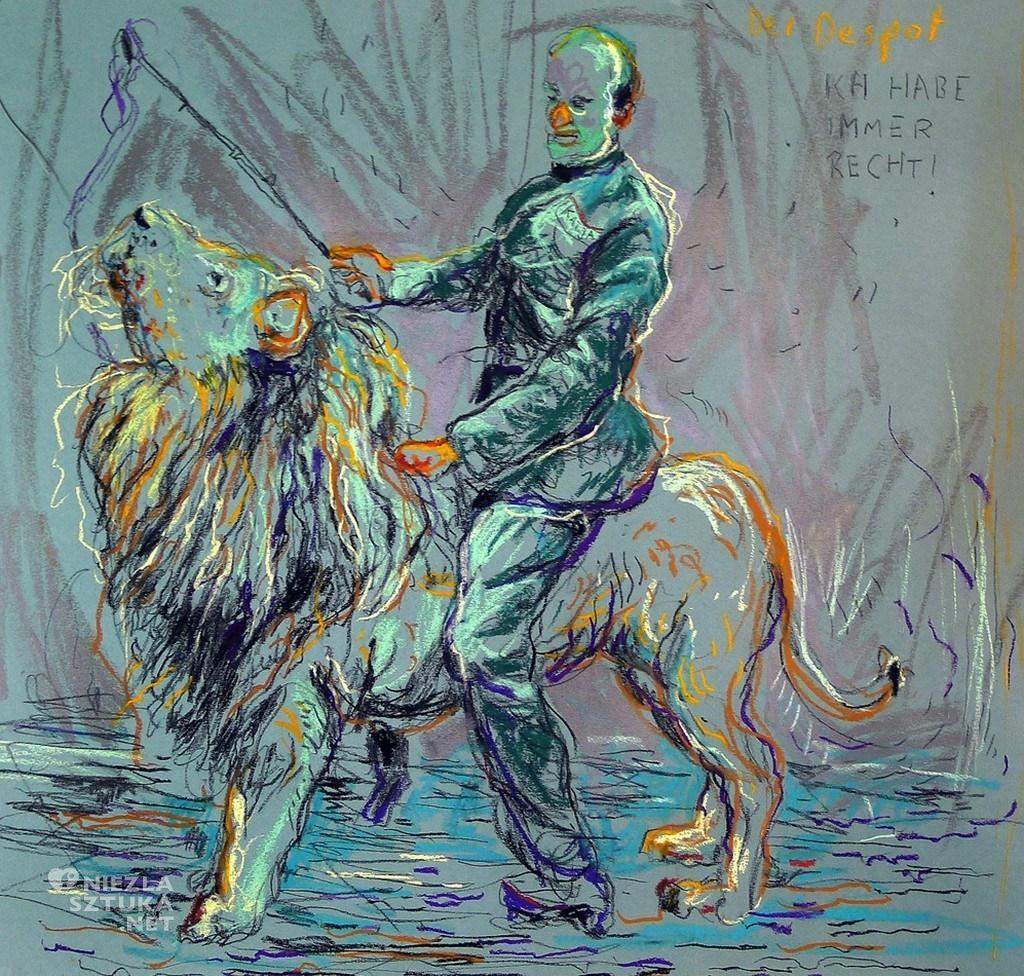 Der Despot, 50 x 50cm, pastel on paper, 2012
